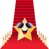 Star on Red carpet. For Oscars award Royalty Free Stock Photo