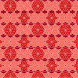 Star red Japanese asanoha isometric seamless pattern Royalty Free Stock Photography