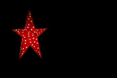 Star Red Light Black Royalty Free Stock Photography