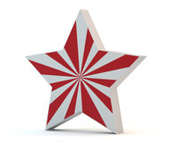Star with red strips Stock Images