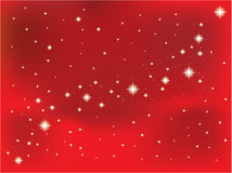 Star on a red vector background. Stock Photo