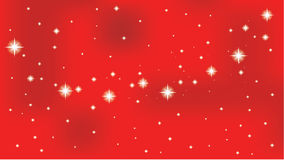 Star on a red vector background. Royalty Free Stock Images
