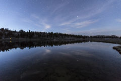 Star Reflections Sierra Lake Wilderness Royalty Free Stock Photography