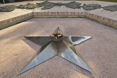 A star representing the Cuban Revolution displayed in the Museum of the Revolution of Havana, Cuba Royalty Free Stock Photo