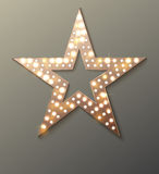 Star retro light banner Royalty Free Stock Photos