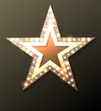 Star retro light banner Royalty Free Stock Photo