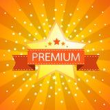 Star retro vintage label on sunrays background. ve. Ctor illustration Royalty Free Stock Photography
