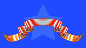 Star  and ribbon Royalty Free Stock Images