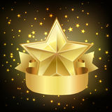 Star with ribbon Royalty Free Stock Images