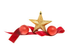 Star and ribbon decoration stock photography
