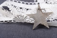 Star with ribbon Royalty Free Stock Photos