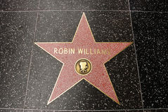 The star of Robin Williams Royalty Free Stock Photography
