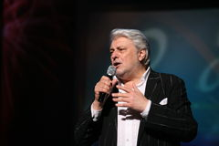Star of Russian and Soviet music, popular music idol, honored man, millionaire, author, singer, composer Vyacheslav Dobrynin Stock Photo