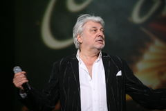 Star of Russian and Soviet music, popular music idol, honored man, millionaire, author, singer, composer Vyacheslav Dobrynin Stock Photography