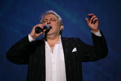 Star of Russian and Soviet music, popular music idol, honored man, millionaire, author, singer, composer Vyacheslav Dobrynin Stock Photos