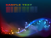 Star's nebula. Abstract star rainbow background with place for text stock illustration