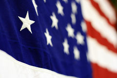 Star(s) and Stripes. Close Up View of an American Flag Stock Photography