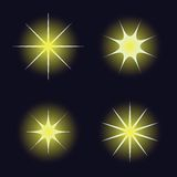 Star samples on the dark blue background Royalty Free Stock Images
