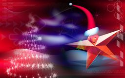 Star with Santa cap Royalty Free Stock Image