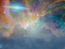 Star Scape. Beautiful Star Scape with clouds Stock Images