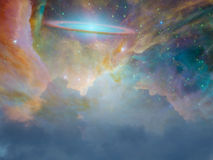 Star Scape. With ring galaxy Royalty Free Stock Photography