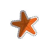 Star sea creature. Icon  illustration graphic design Royalty Free Stock Photo