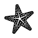 Star sea creature. Icon  illustration graphic design Stock Images