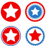 Star Seal Stamp Flat Icons Stock Image