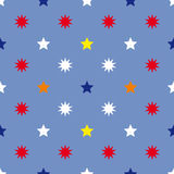 Star seamless background vintage Stock Photography