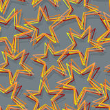 Star seamless pattern. Abstract 3d star texture.  Royalty Free Stock Image
