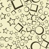 Star seamless pattern. Dark stars on bright background abstract wallpaper Stock Photos