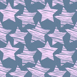 Star seamless pattern Stock Image