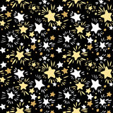 Star Seamless Pattern.Textile ink brush strokes texture in doodl Royalty Free Stock Image