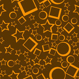 Star seamless pattern. Yellow stars on dark background abstract wallpaper. Vector illustration. Stock Images
