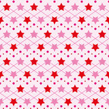 Star seamless texture. Bright Star elegant repeating pattern for baby clothes. Fabric, material, textile, seamless texture Stock Image