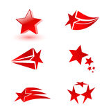 Star set. Set of vector templates with stars Royalty Free Stock Photo