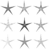 Star Set Grunge Stock Images