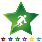 Star Set - Runner. Set of star style icons - runner Stock Images