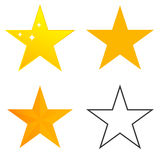 Star. A set of s, the  icon. Flat design, vector illustration, vector royalty free illustration
