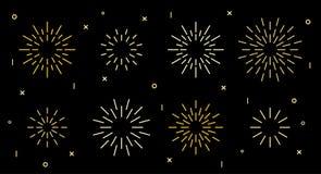 Free Star Shape Art Deco Fireworks Burst Pattern Set Stock Images - 191060504