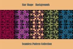 Star shape backgrounds Stock Image