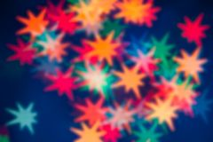 Star shape bokeh light background blurry Royalty Free Stock Photos