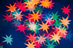 Star shape bokeh light background Royalty Free Stock Image