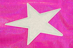 Star shape on a bright color background Royalty Free Stock Photo