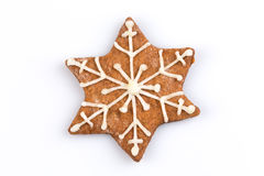 Star shape christmas gingerbread cookie Stock Photography
