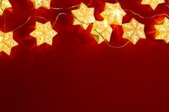 Star shape christmas lights. Background royalty free stock photo