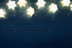 Star shape christmas lights. Background stock photography