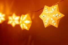 Star shape christmas lights. Background stock image