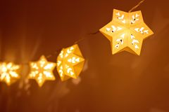 Star shape christmas lights. Background stock photo