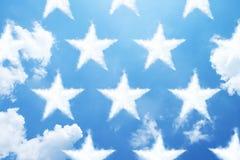 Star shape cloud Stock Photography